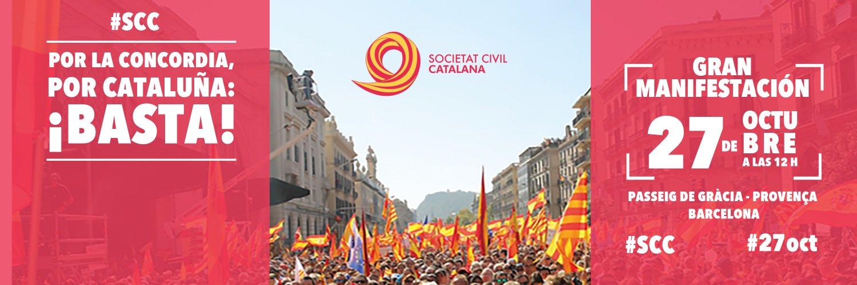 Izquierda en Positivo se suma a la manifestación del 27 de octubre en Barcelona. «Por la concordia, por Cataluña: ¡Basta!»